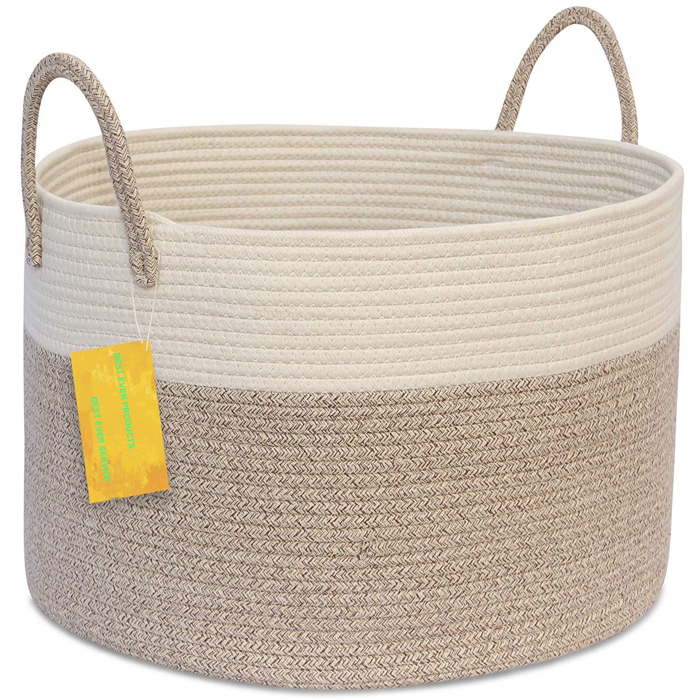 Large Blanket Basket Living Room Woven Basket For Toys